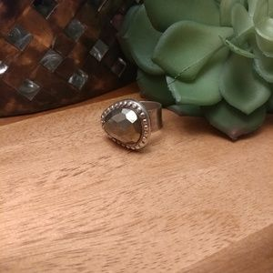 Silpada sterling silver & mirrored stone ring